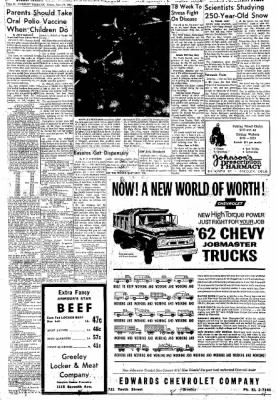 Greeley Daily Tribune from Greeley, Colorado on November 16, 1961 · Page 11