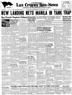 Las Cruces Sun-News from Las Cruces, New Mexico on February 2, 1945 · Page 1