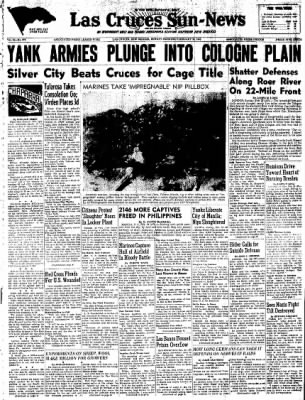 Las Cruces Sun-News from Las Cruces, New Mexico on February 25, 1945 · Page 1