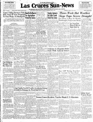 Las Cruces Sun-News from Las Cruces, New Mexico on July 8, 1951 · Page 1