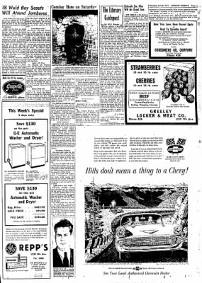 Greeley Daily Tribune from Greeley, Colorado on June 27, 1957 · Page 21