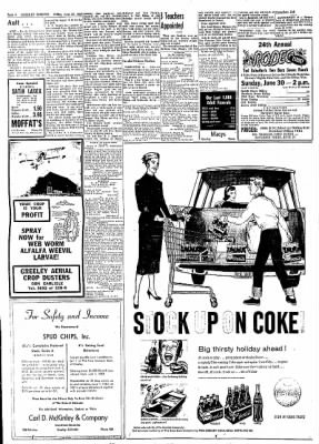 Greeley Daily Tribune from Greeley, Colorado on June 28, 1957 · Page 8