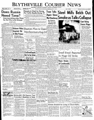 The Courier News from Blytheville, Arkansas on May 5, 1952 · Page 1