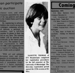Nanette Thomas going to Ole Miss 1979
