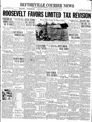 The Courier News from Blytheville, Arkansas on November 15, 1937 · Page 1