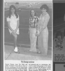 Nanette Thomas to be scorekeeper 1978