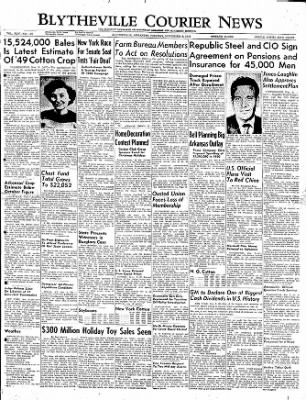 The Courier News from Blytheville, Arkansas on November 8, 1949 · Page 1