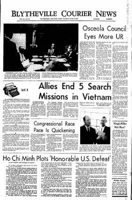 The Courier News from Blytheville, Arkansas on April 9, 1968 · Page 1