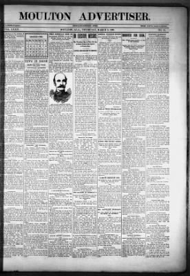 The Moulton Advertiser from Moulton, Alabama on March 8, 1900 · Page 1