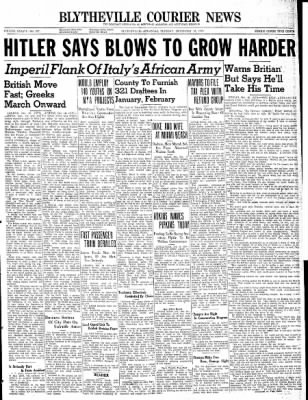 The Courier News from Blytheville, Arkansas on December 10, 1940 · Page 1