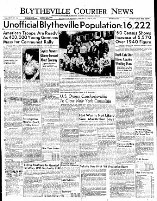 The Courier News from Blytheville, Arkansas on May 27, 1950 · Page 1