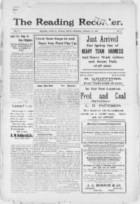 Sample Reading Recorder front page