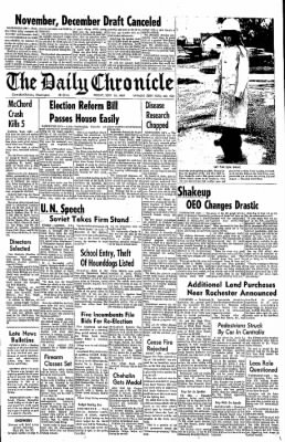 The Daily Chronicle from Centralia, Washington on September 19, 1969 · Page 1