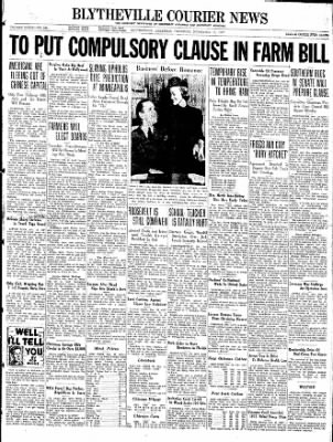 The Courier News from Blytheville, Arkansas on November 18, 1937 · Page 1