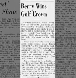 cornell club championship   cornell soph butch berry beat don turcotte