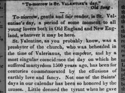Column about Valentine's Day