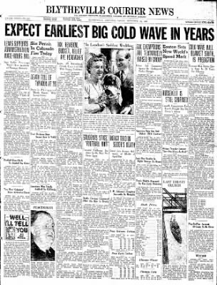 The Courier News from Blytheville, Arkansas on November 19, 1937 · Page 1