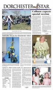 Sample Dorchester Star front page