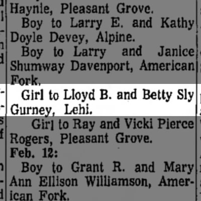 Betty and Lloyd girl -