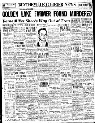The Courier News from Blytheville, Arkansas on November 2, 1933 · Page 1