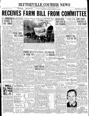 The Courier News from Blytheville, Arkansas on November 22, 1937 · Page 1