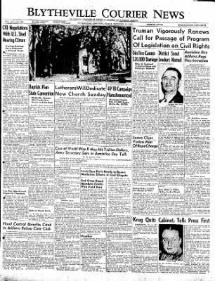 The Courier News from Blytheville, Arkansas on November 11, 1949 · Page 1