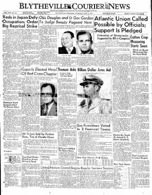 The Courier News from Blytheville, Arkansas on June 1, 1950 · Page 1