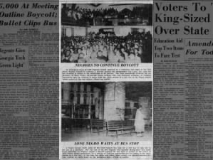Photos from the first day of the Montgomery Bus Boycott in 1955