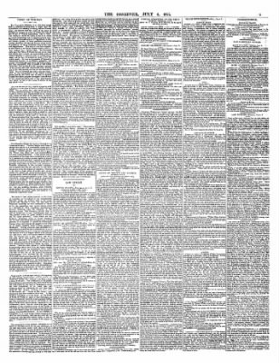 The Observer from London, Greater London, England on July 4, 1875 · 5