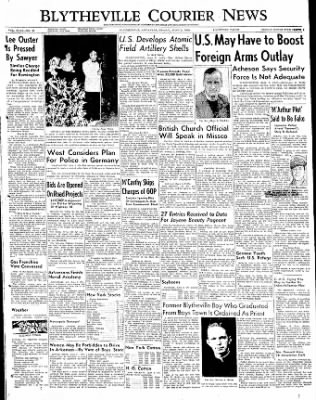The Courier News from Blytheville, Arkansas on June 2, 1950 · Page 1