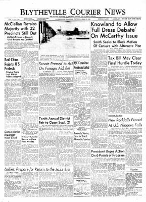 The Courier News from Blytheville, Arkansas on July 29, 1954 · Page 1