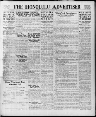 The Honolulu Advertiser from Honolulu, Hawaii on January 8, 1922 · 1