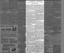 Newspaper article gives description of V-J Day celebrations in Manchester, England