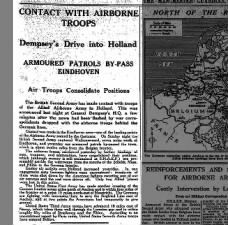 British Second Army links up with Allied Airborne Army near Eindhoven during invasion of Holland