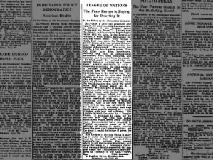 1939 letter to the editor argues League is best