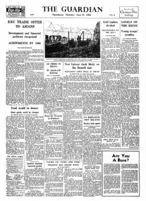 The Guardian From London Greater London England On June 21 1962 1