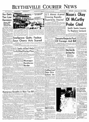The Courier News from Blytheville, Arkansas on July 30, 1954 · Page 1