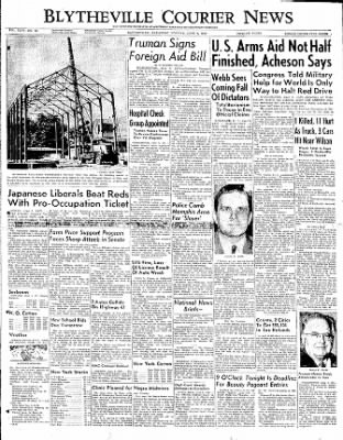 The Courier News from Blytheville, Arkansas on June 5, 1950 · Page 1