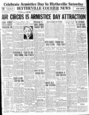 The Courier News from Blytheville, Arkansas on November 9, 1933 · Page 1