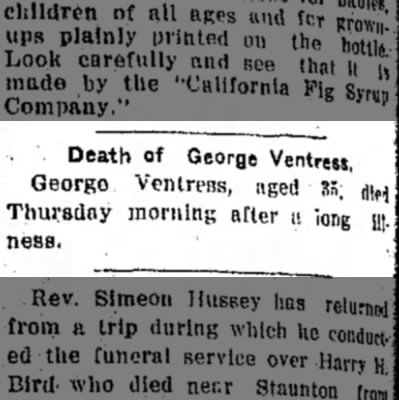 Ventress_George_Death_1914