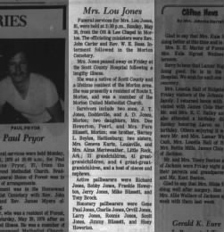 Lou Boyles Jones Obit
