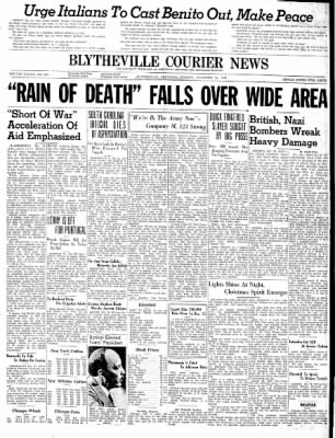 The Courier News from Blytheville, Arkansas on December 23, 1940 · Page 1