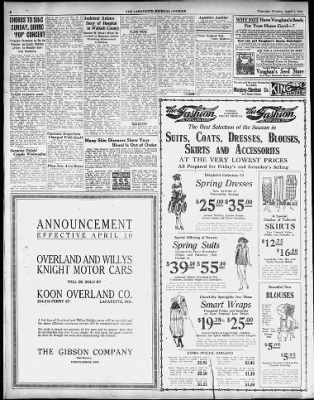 Journal and Courier from Lafayette, Indiana on April 7, 1921 · 8