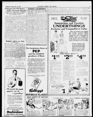 Journal and Courier from Lafayette, Indiana on May 23, 1928 · 3