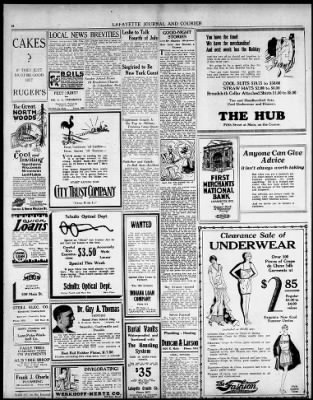 Journal and Courier from Lafayette, Indiana on June 19, 1928 · 16