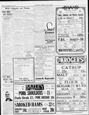 Journal and Courier from Lafayette, Indiana on June 16, 1927 · 9