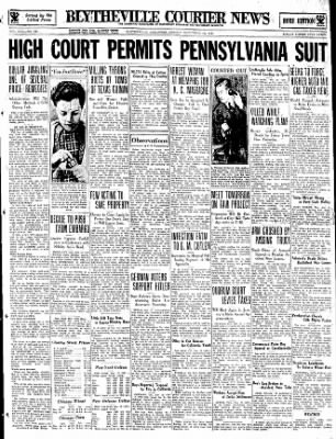 The Courier News from Blytheville, Arkansas on November 13, 1933 · Page 1