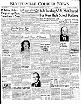 The Courier News from Blytheville, Arkansas on June 7, 1950 · Page 1