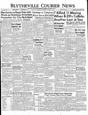 The Courier News from Blytheville, Arkansas on November 17, 1949 · Page 1