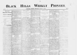 The Black Hills Weekly Pioneer